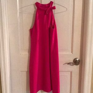 Maggy London Pink Halter Neck Bow Shift Dress